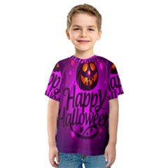 Happy Ghost Halloween Kids  Sport Mesh Tee