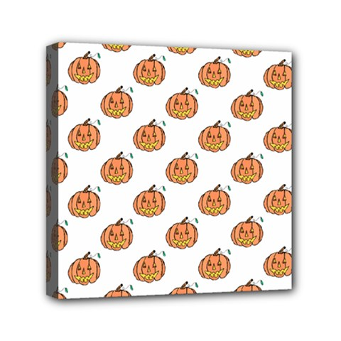 Face Mask Ghost Halloween Pumpkin Pattern Mini Canvas 6  X 6