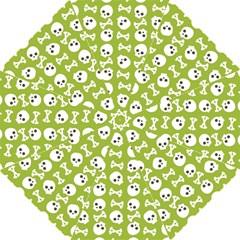 Skull Bone Mask Face White Green Golf Umbrellas