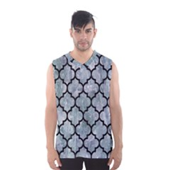 Tile1 Black Marble & Ice Crystals Men s Basketball Tank Top