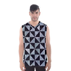 Triangle1 Black Marble & Ice Crystals Men s Basketball Tank Top
