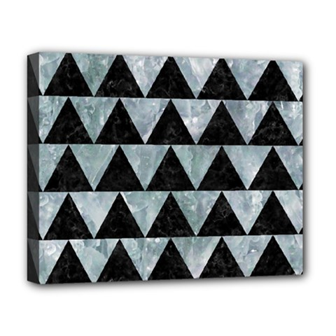 Triangle2 Black Marble & Ice Crystals Deluxe Canvas 20  X 16