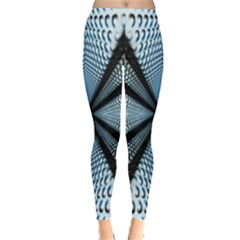 6th Dimension Metal Abstract Obtained Through Mirroring Leggings