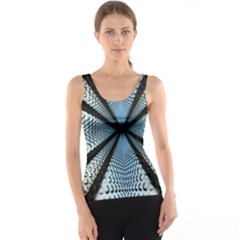 6th Dimension Metal Abstract Obtained Through Mirroring Tank Top