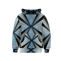 6th Dimension Metal Abstract Obtained Through Mirroring Kids  Pullover Hoodie