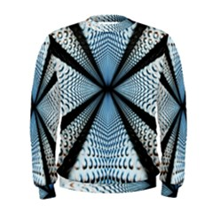 6th Dimension Metal Abstract Obtained Through Mirroring Men s Sweatshirt