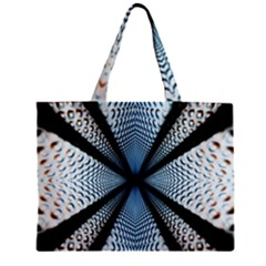 6th Dimension Metal Abstract Obtained Through Mirroring Zipper Mini Tote Bag