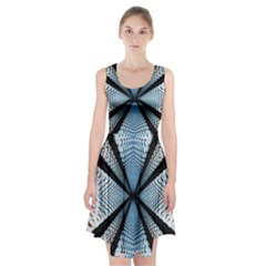 6th Dimension Metal Abstract Obtained Through Mirroring Racerback Midi Dress