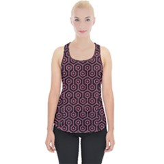 Hexagon1 Black Marble & Pink Denim (r) Piece Up Tank Top