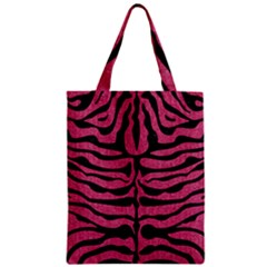 Skin2 Black Marble & Pink Denim Zipper Classic Tote Bag