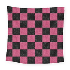 Square1 Black Marble & Pink Denim Square Tapestry (large)