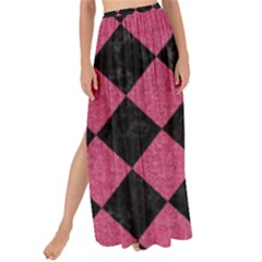 Square2 Black Marble & Pink Denim Maxi Chiffon Tie Up Sarong