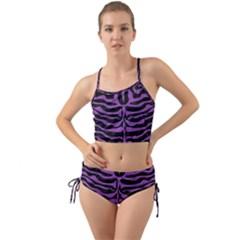 Skin2 Black Marble & Purple Denim (r) Mini Tank Bikini Set
