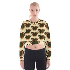 Butterfly Butterflies Insects Cropped Sweatshirt
