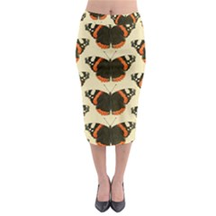 Butterfly Butterflies Insects Midi Pencil Skirt