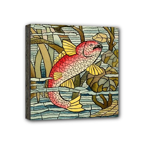 Fish Underwater Cubism Mosaic Mini Canvas 4  X 4