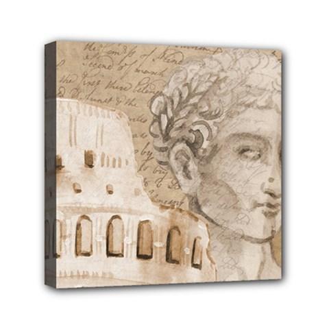 Colosseum Rome Caesar Background Mini Canvas 6  X 6
