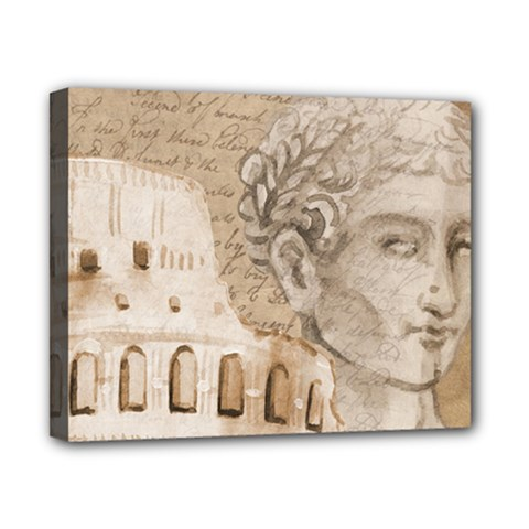 Colosseum Rome Caesar Background Canvas 10  X 8