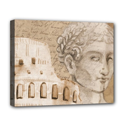 Colosseum Rome Caesar Background Deluxe Canvas 20  X 16
