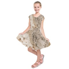 Colosseum Rome Caesar Background Kids  Short Sleeve Dress