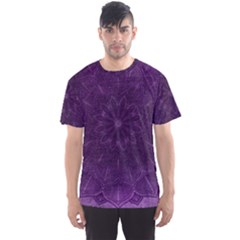Background Purple Mandala Lilac Men s Sports Mesh Tee
