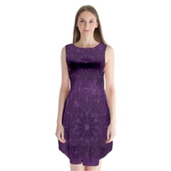 Background Purple Mandala Lilac Sleeveless Chiffon Dress