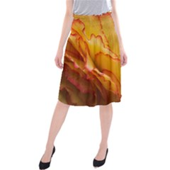 Flowers Leaves Leaf Floral Summer Midi Beach Skirt