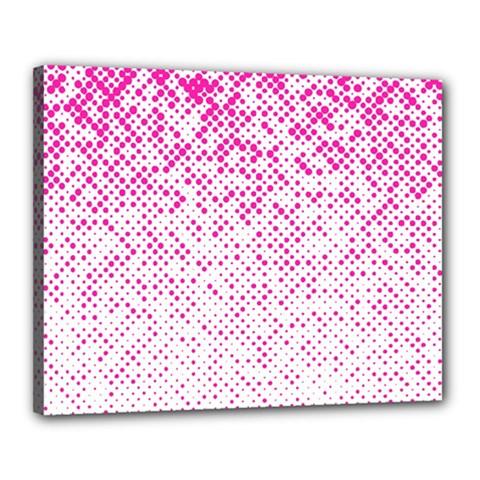 Halftone Dot Background Pattern Canvas 20  X 16
