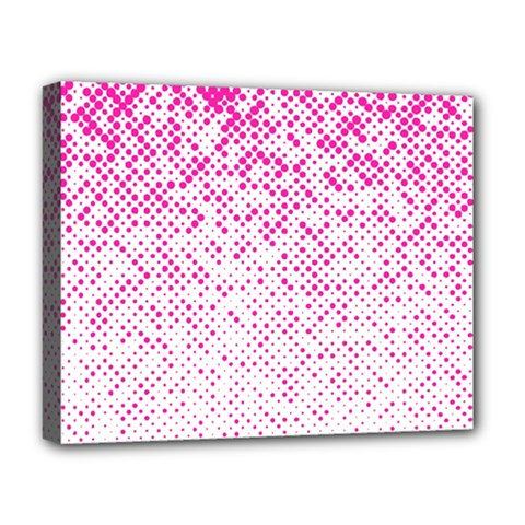 Halftone Dot Background Pattern Deluxe Canvas 20  X 16