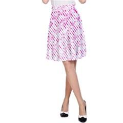 Halftone Dot Background Pattern A Line Skirt