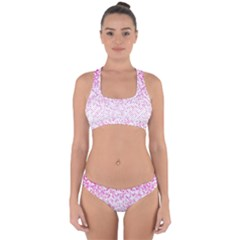 Halftone Dot Background Pattern Cross Back Hipster Bikini Set