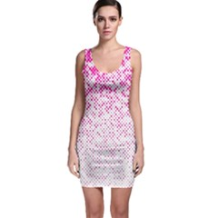 Halftone Dot Background Pattern Bodycon Dress