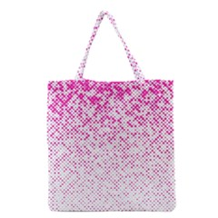 Halftone Dot Background Pattern Grocery Tote Bag