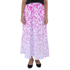 Halftone Dot Background Pattern Flared Maxi Skirt