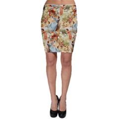 Seamless Vintage Design Bodycon Skirt