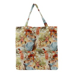 Seamless Vintage Design Grocery Tote Bag