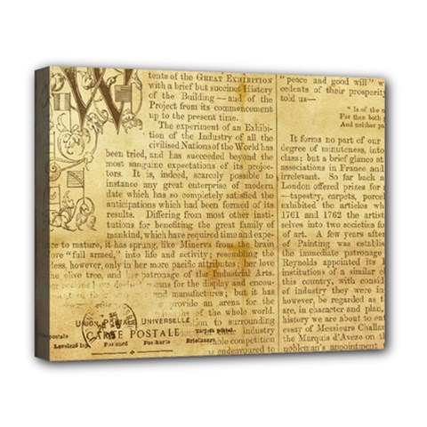 Vintage Background Paper Deluxe Canvas 20  X 16