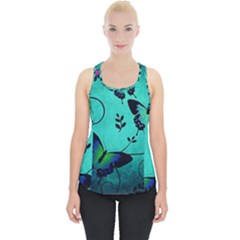 Texture Butterflies Background Piece Up Tank Top
