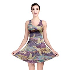 Textile Fabric Cloth Pattern Reversible Skater Dress