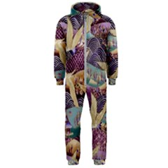 Textile Fabric Cloth Pattern Hooded Jumpsuit (men)