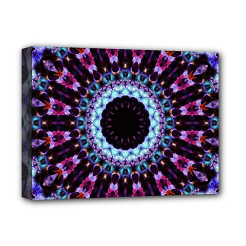 Kaleidoscope Shape Abstract Design Deluxe Canvas 16  X 12