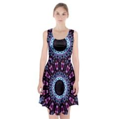 Kaleidoscope Shape Abstract Design Racerback Midi Dress
