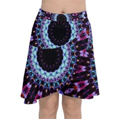 Kaleidoscope Shape Abstract Design Chiffon Wrap