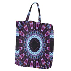 Kaleidoscope Shape Abstract Design Giant Grocery Zipper Tote