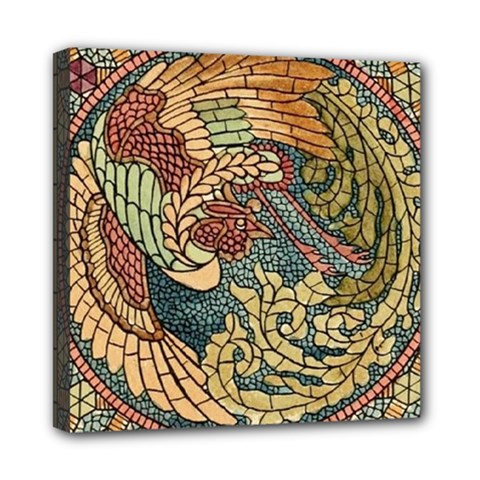 Wings Feathers Cubism Mosaic Mini Canvas 8  X 8