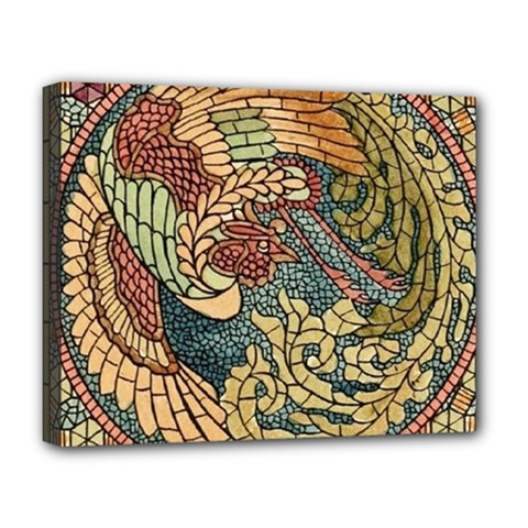 Wings Feathers Cubism Mosaic Deluxe Canvas 20  X 16