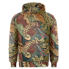 Wings Feathers Cubism Mosaic Men s Pullover Hoodie