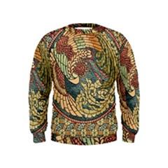 Wings Feathers Cubism Mosaic Kids  Sweatshirt