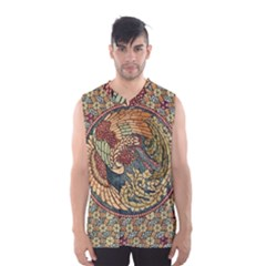 Wings Feathers Cubism Mosaic Men s Basketball Tank Top