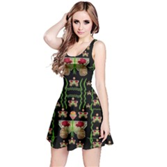 Roses In The Soft Hands Makes A Smile Pop Art Reversible Sleeveless Dress